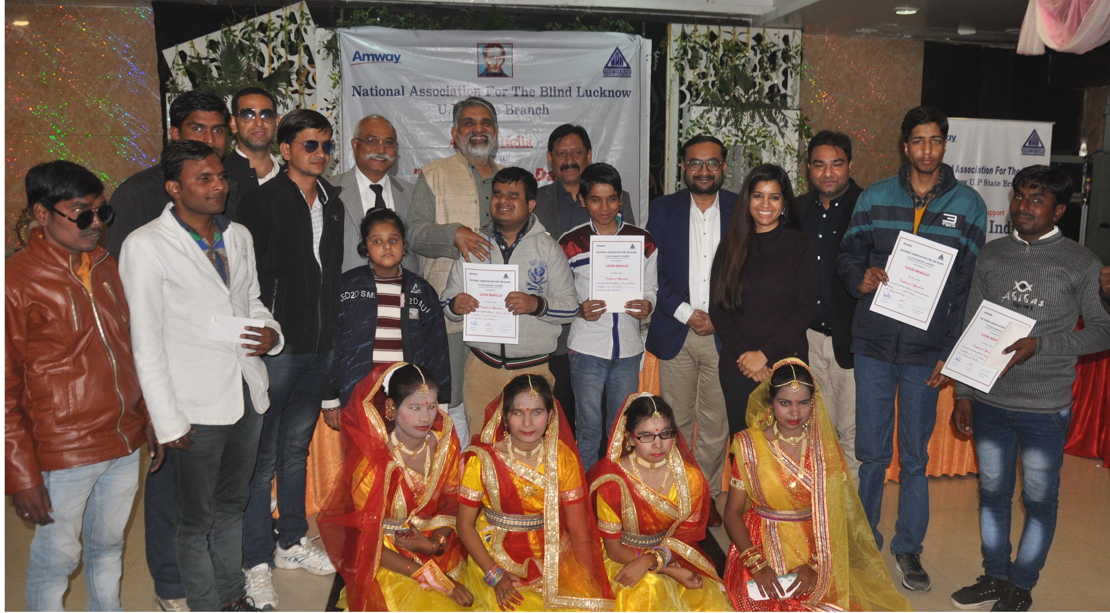 Amway celebrates Louis Braille Day in collaboration with National Association for the Blind, Lucknow | Kaivalya Communication