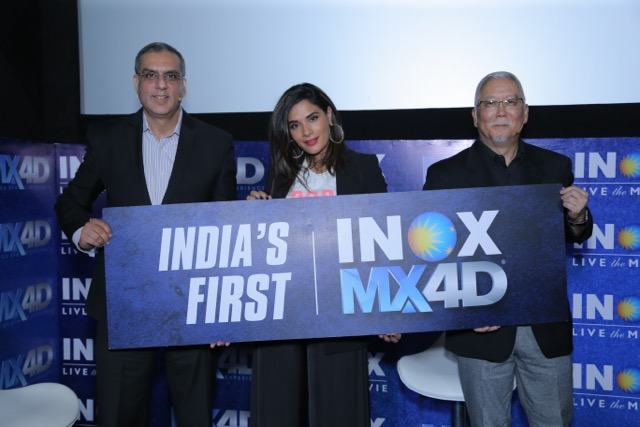 Alok Tandon CEO INOX Richa Chadha Actor and Mark Kamiyama Seen at Launch of Indias First MX4D Theatre at INOX Inorbit Malad
