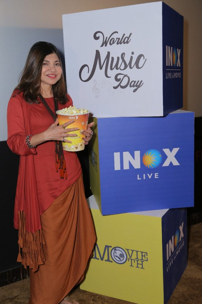 INOX Live Chat Session with Alka Yagnik for World Music Day