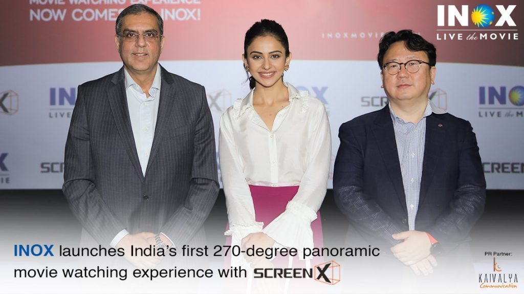 The deployment of ScreenX technology would allow the movie scene to spread beyond the cinema screen on to the left and right walls of the cinema hall and offer a spectacular panoramic  view. While offering a maximized immersive experience, the 2700 view would not only amplify the emotional aspect, but also enhance the entertainment value of the content. INOX had signed a deal with CJ 4DPLEX earlier this year to bring the first ScreenX to India.