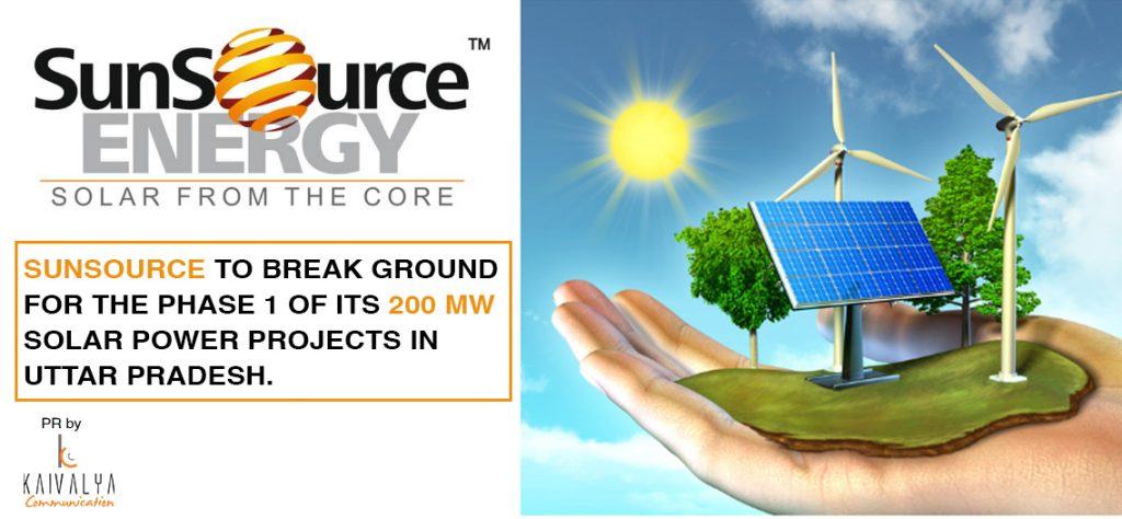 SunSource Energy to break ground for the phase 1 of its 200 MW Solar Power Projects in Uttar Pradesh