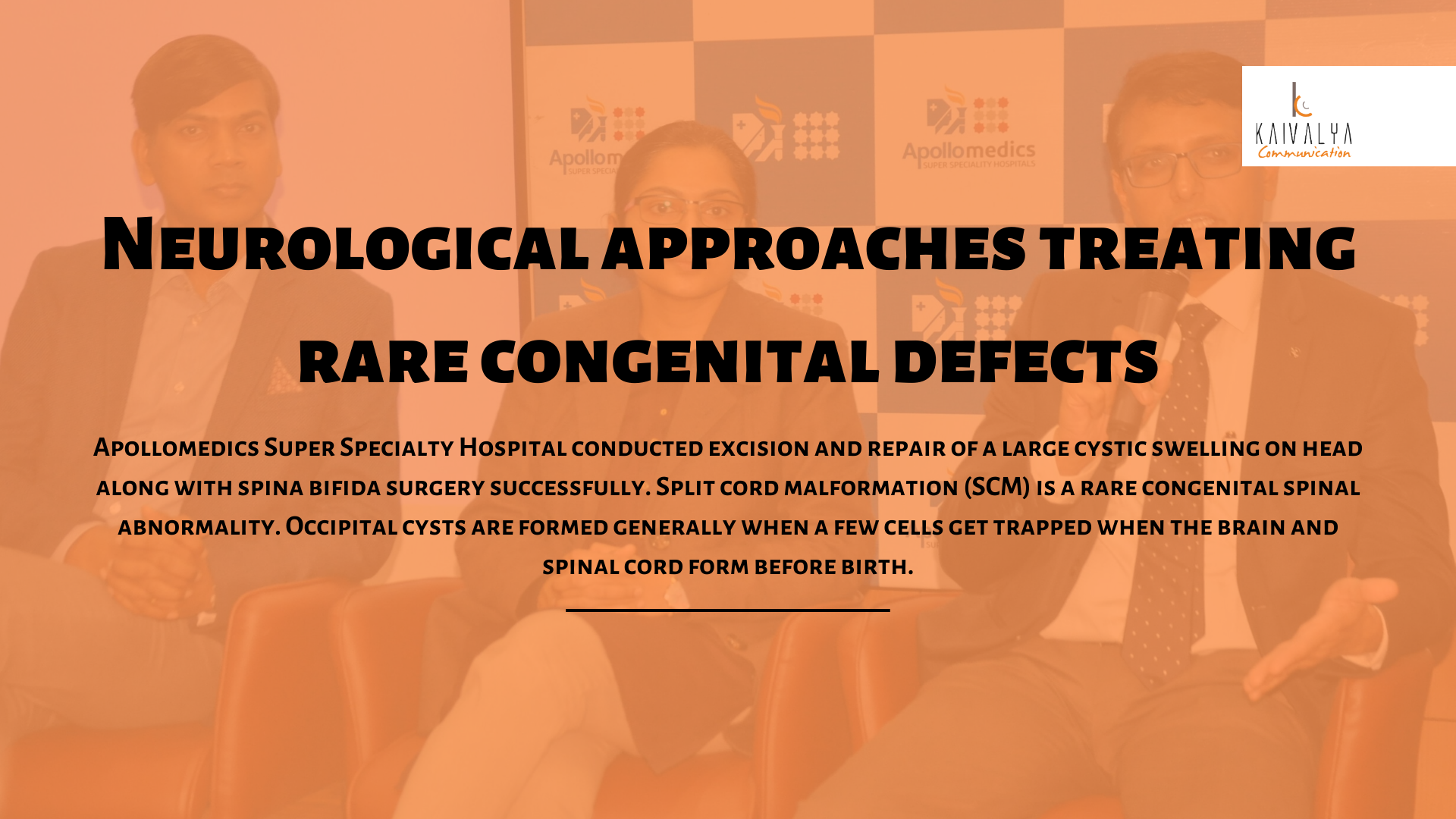 Neurological approaches treating rare congenital defects