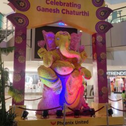 Phoenix United installed a record-making structure of Lord Ganesh made with Sui Dhaga rolls